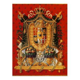 Vapensköld av italien, design för en tapestry vykort
