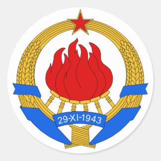 Vapensköld av Jugoslavien (1945-1992) Runt Klistermärke