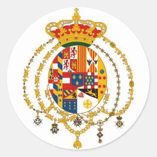 Vapensköld av kungariket av tvåna Sicilies Runt Klistermärke
