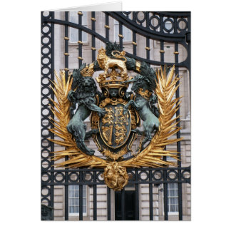 Vapensköld Buckingham Palace London England Hälsningskort