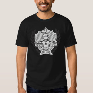 Vapensköld för broderskap för ZetaZetaZeta - B&W Tee Shirt