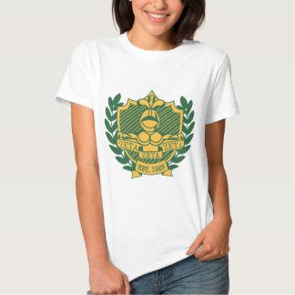 Vapensköld för broderskap för ZetaZetaZeta - färg T-shirts