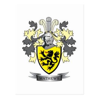 Vapensköld för Matthews familjvapensköld Vykort