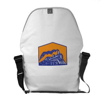 Vapensköld för rörligt tåg för ånga Retro kommande Messenger Bag