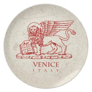 Vapenskölden av Venedig, italien Tallrik