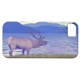 Vapitier (älg) vid sjön iPhone 5 skal