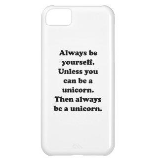 Var alltid dig unicornen iPhone 5C fodral