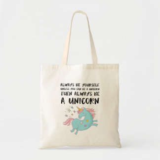 Var alltid en Unicorn Budget Tygkasse