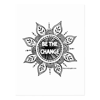 Be the Change Mandala Postcards