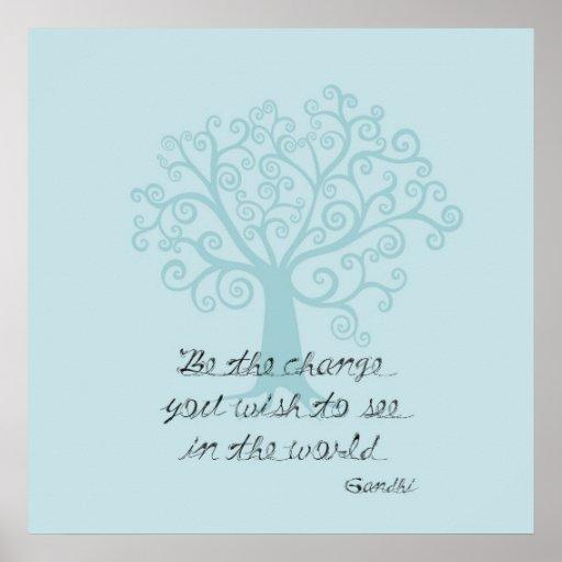 Var ändringsträd affisch