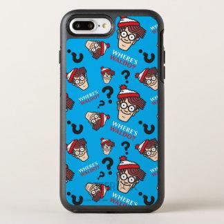 Var är det Waldo blåttmönster OtterBox Symmetry iPhone 7 Plus Skal