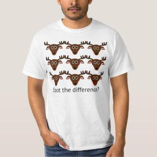 Var är fläcken skillnaden t shirt