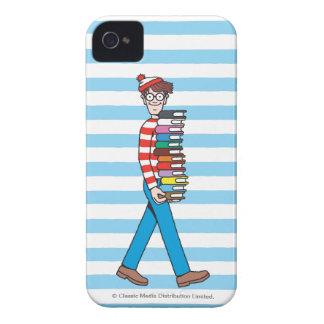 Var är Waldo den att bära bunten av bokar iPhone 4 Case