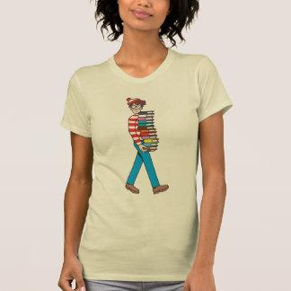 Var är Waldo den att bära bunten av bokar Tröja