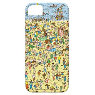 Var är Waldo på stranden iPhone 5 Fodral