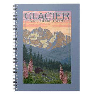 Vår blommor - glaciärnationalpark, MT Anteckningsbok