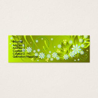 vår blommor litet visitkort