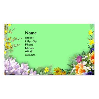 Vår blommor set av standard visitkort