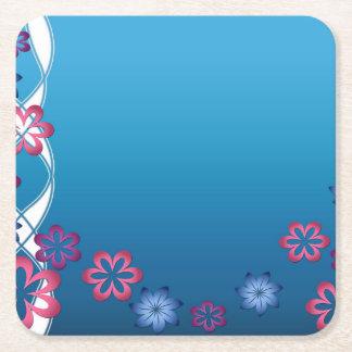 Vår blommor underlägg papper kvadrat