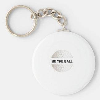 Var bollen - golf rund nyckelring