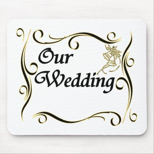 Vår bröllopanpassningsbar Mousepad Mus Matta