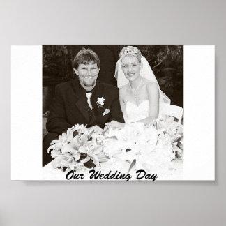 Vår bröllopsdag poster
