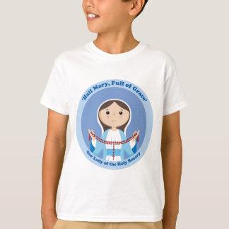 Vår dam av radbandet t-shirt