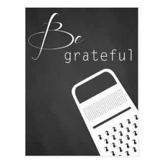 Var den tacksamma vykortet vykort