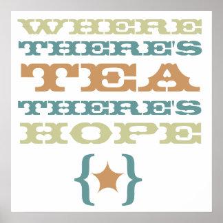 var det finns tea, finns det stort hopp poster