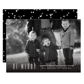 Var det glada helgdagfotokortet 12,7 x 17,8 cm inbjudningskort