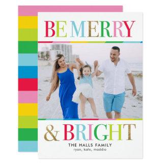 Var det glada och ljusa helgdagfotokortet 12,7 x 17,8 cm inbjudningskort