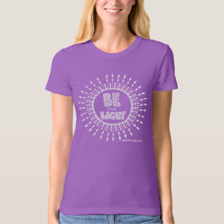 Be the Light Organic T-shirt White Print