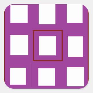 Var det olika köp som den olika lilan kvadrerar fyrkantigt klistermärke