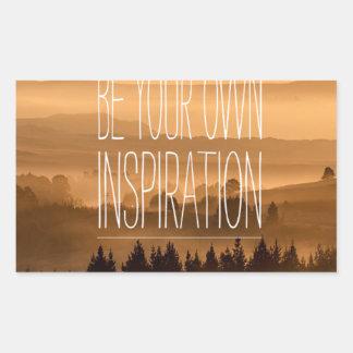 Var din egna inspiration landskap backesolnedgång rektangulärt klistermärke