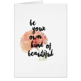 Var din egna sort av det härliga | kortet hälsningskort