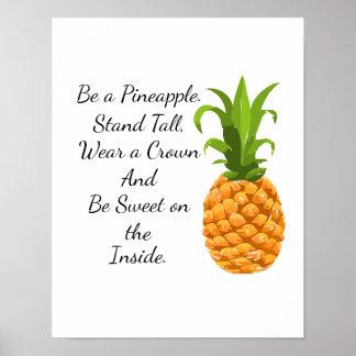 Var en ananasaffisch poster