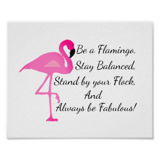 Var en Flamingoaffisch Poster