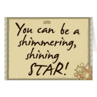Var en stjärna hälsningskort
