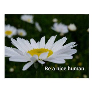 Var en trevlig människavykort vykort