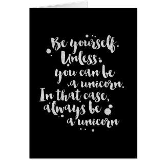 Var en Unicorn - inspirera kort
