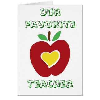 Vår favorit- lärare hälsningskort