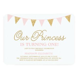 Vår födelsedaginbjudan för Princess | 12,7 X 17,8 Cm Inbjudningskort