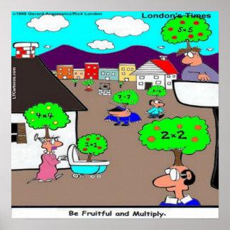 Var fruktbar & multiplicera den roliga affischen poster