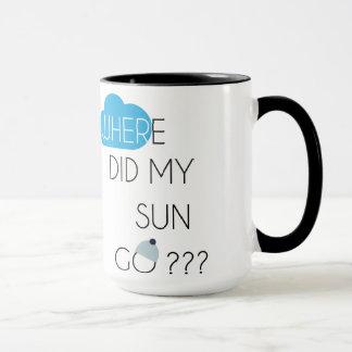 Var gick min sol??? Mugg