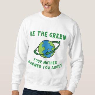 Var grön lång ärmad tröja