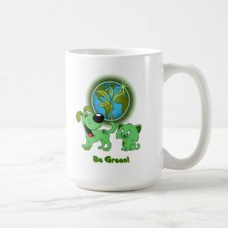 Var grön! (Löv och blad) Kaffemugg