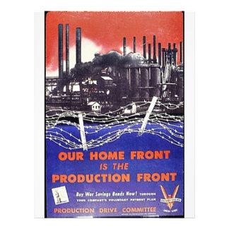 Vår hem- Front är produktionen beklär Reklamblad