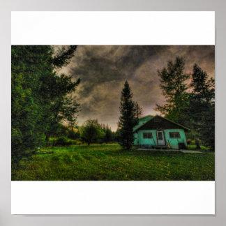 Vår kabin på lite blackfooten, Elliston, MT 20 Poster