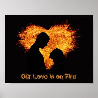 Vår kärlek är på Fire (affischen) Poster