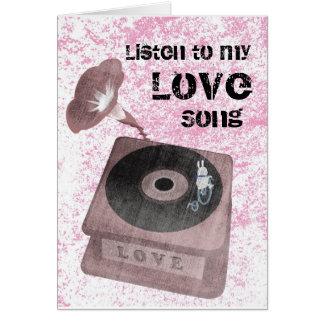 Vår kärleksång hälsningskort